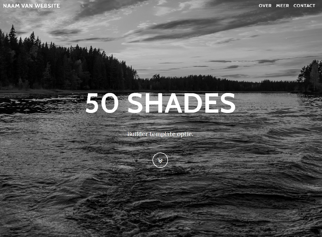 Preview van de 50 Shades template.